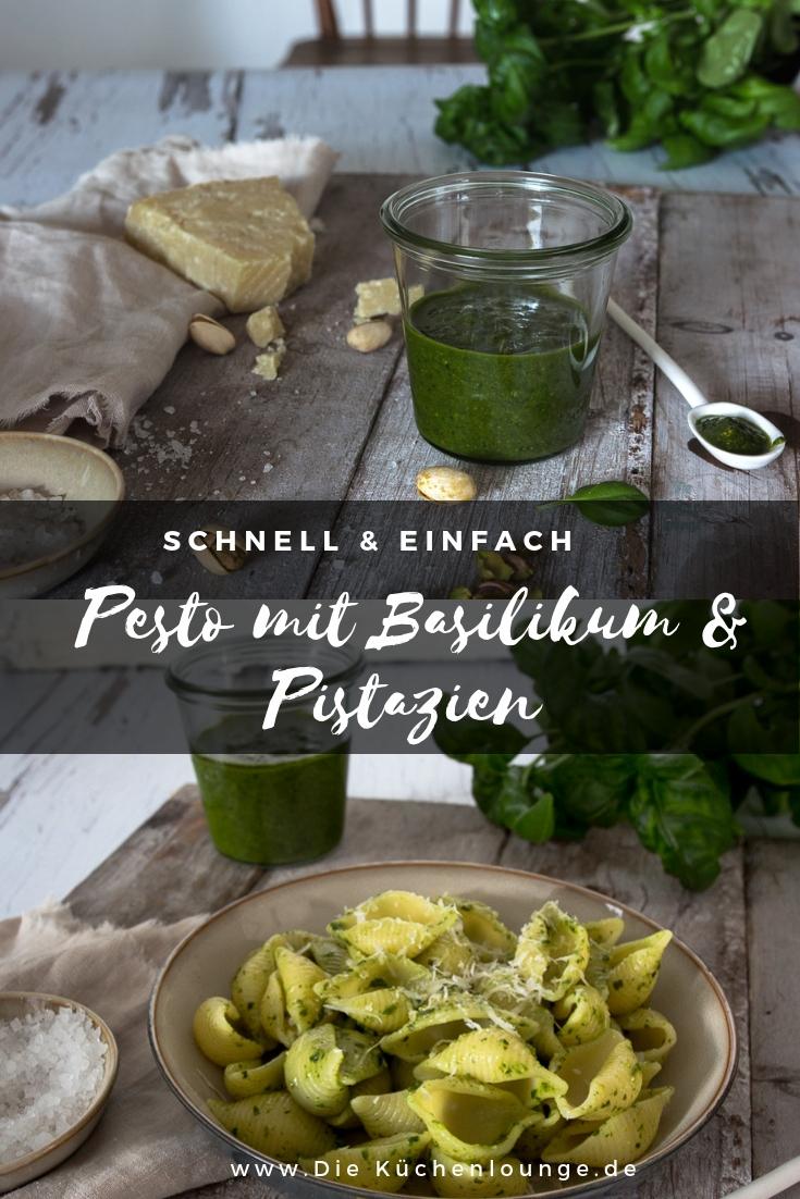 Pesto mit Basilikum und Pistazien
