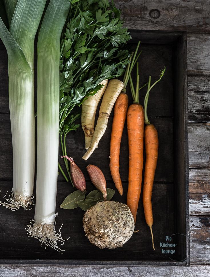 Gemüsebrühe - Grundrezept