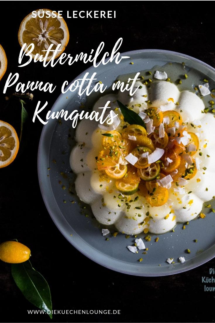 Buttermilch-Panna cotta mit Kumquats
