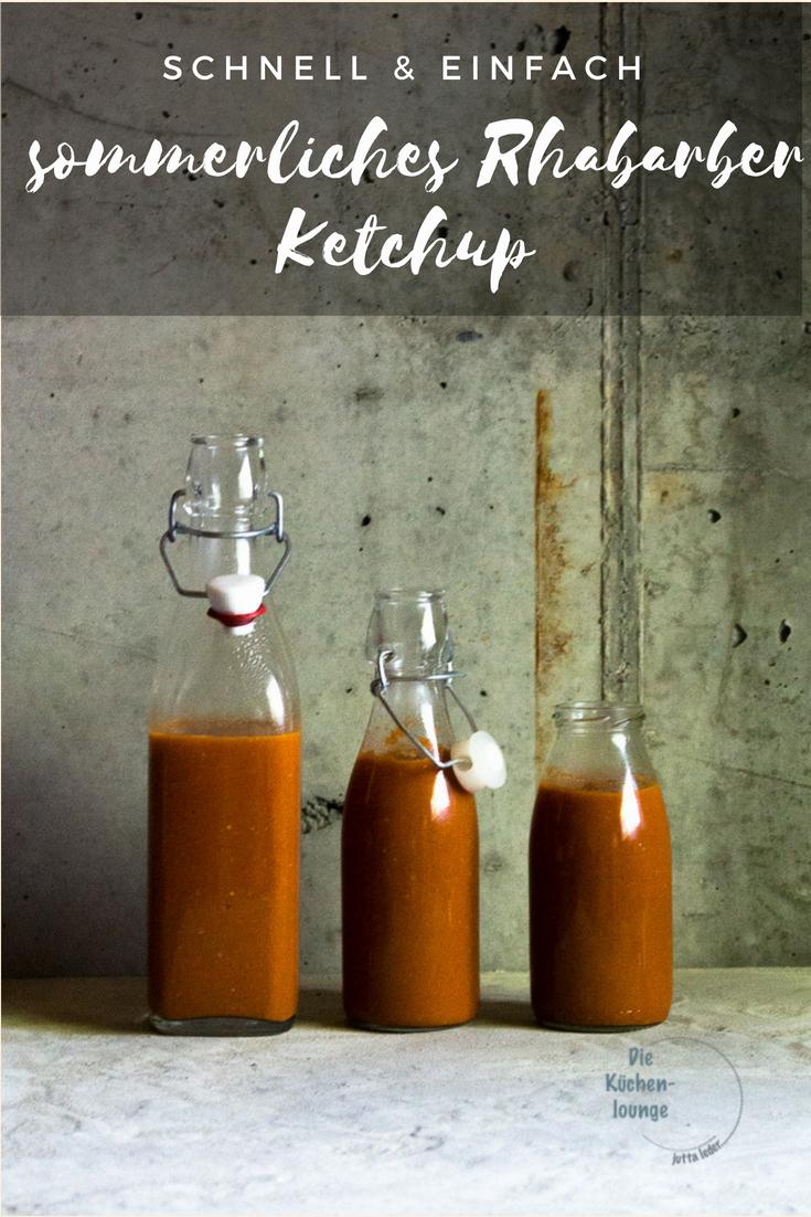 schnell & einfach. sommerliches Rhabarber Ketchup