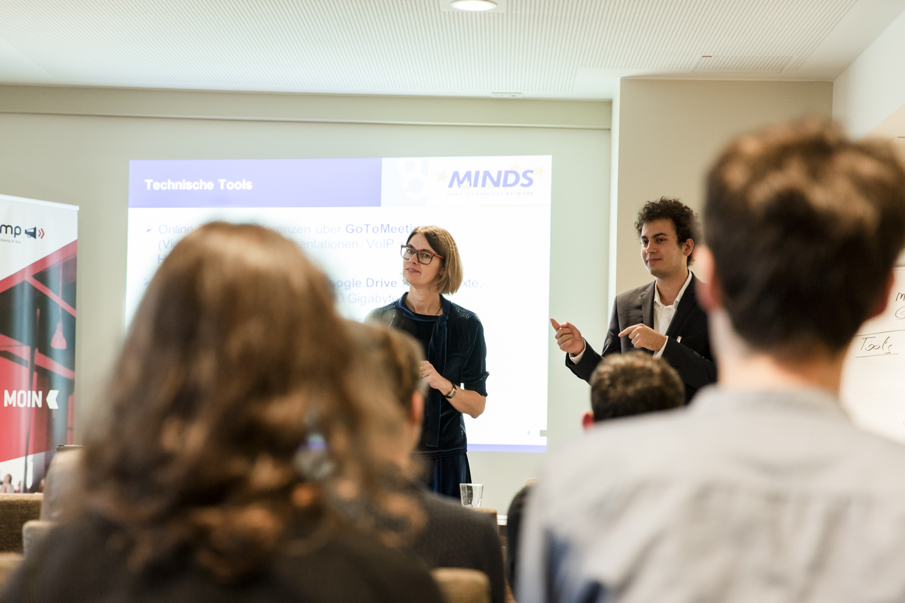 "Projekt ""MINDS Global Spotlight"" – Netzwerke als Stärkung des Journalismus mit Adam Rifi (MINDS International) & Petra Kaminsky (Deutsche Presse-Agentur)"