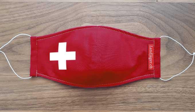 Stoffmaske Schweizerkreuz