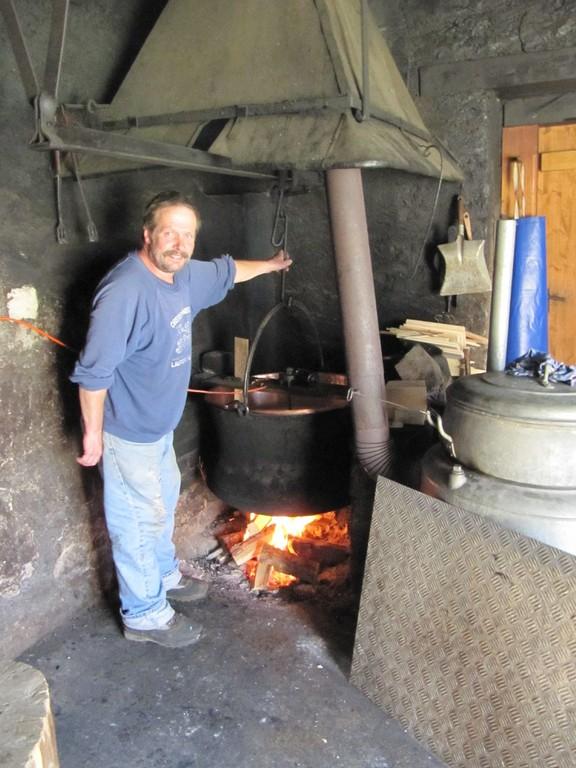 Traditionelle Käseherstellung