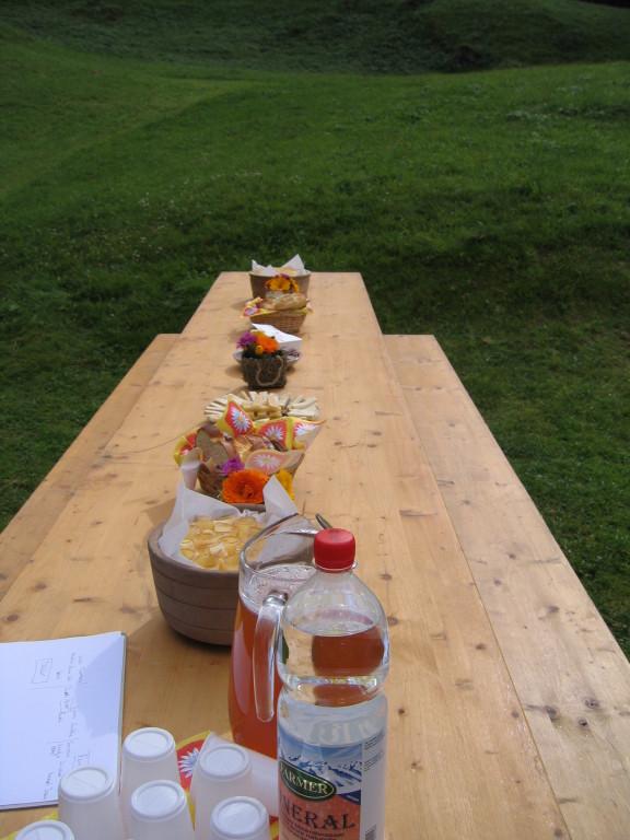 Schöne Tafel für feine Spezialitäten aus Grindelwald