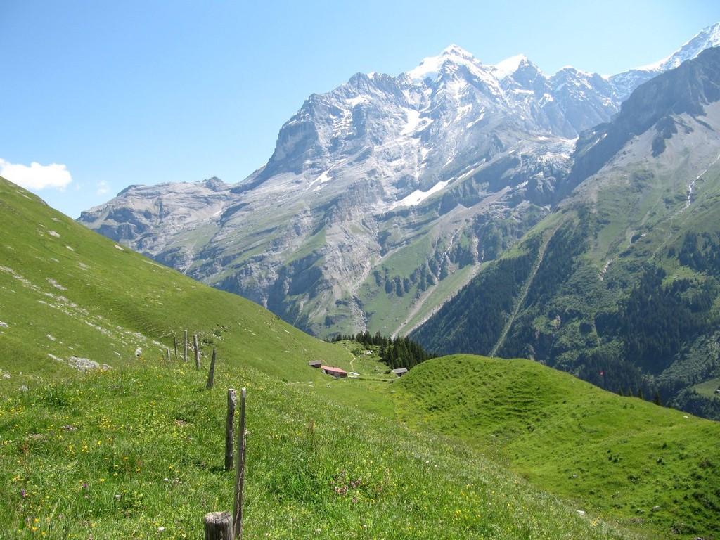 Blick auf Alp Obersteinberg