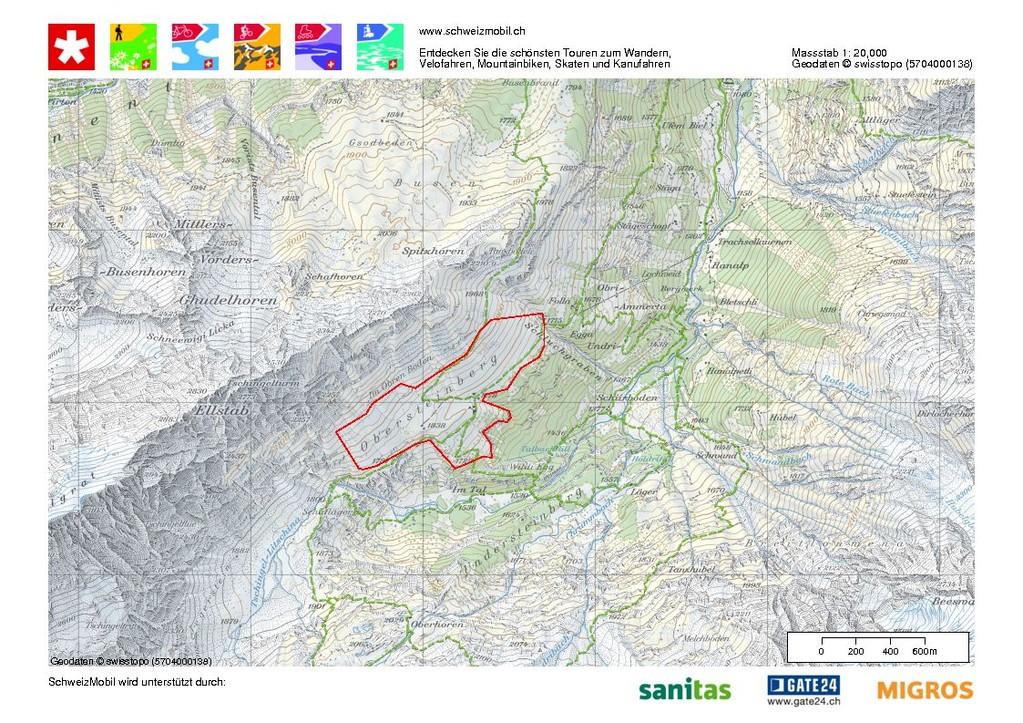 Wanderwege von und zur Alp Obersteinberg