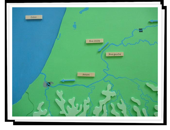 Géographie générale ou locale, plusieurs séquences possibles avec le même support.