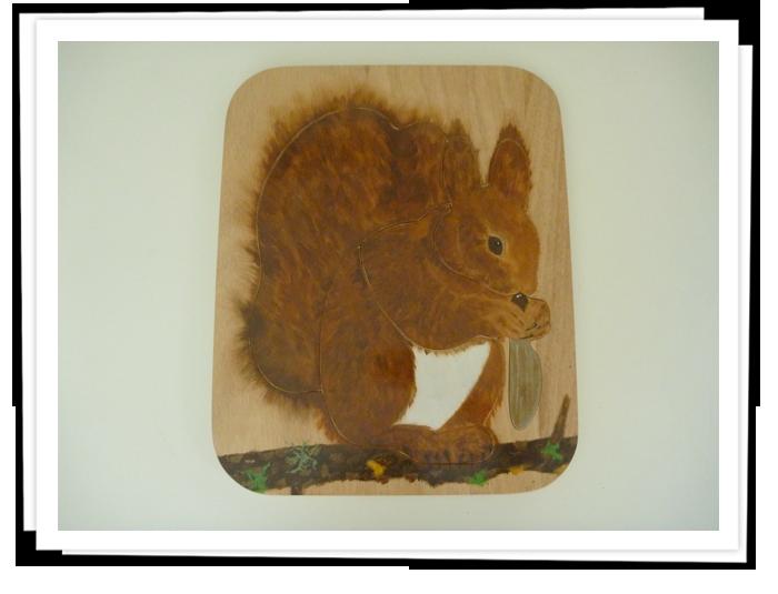 Puzzle écureuil, jeu de piste, animation écureuil