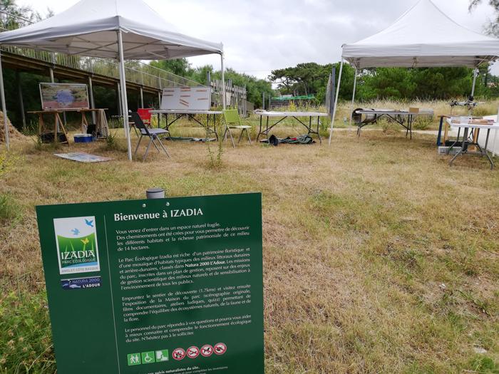 Au Parc écologique Izadia
