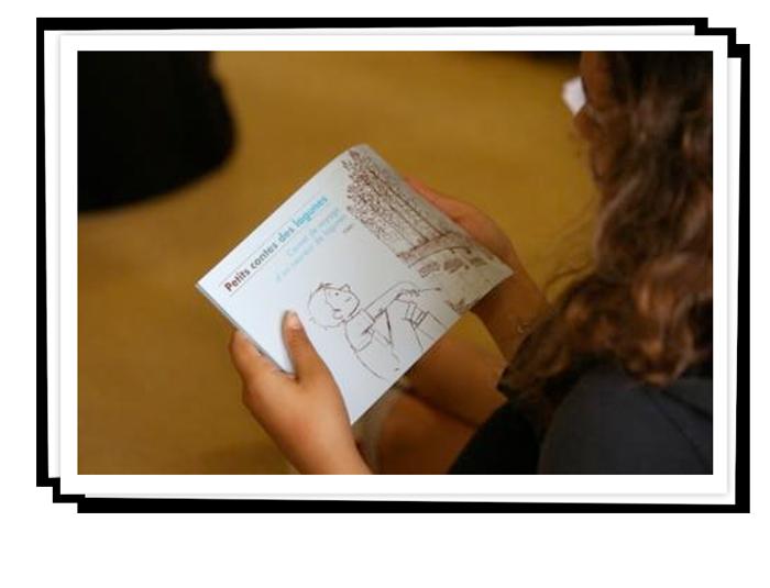 Recueil de contes écrit par les élèves de 2 collèges landais à partir du conte original.