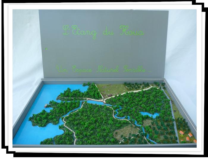 Maquette puzzle, l'étang du Houa, ENS.