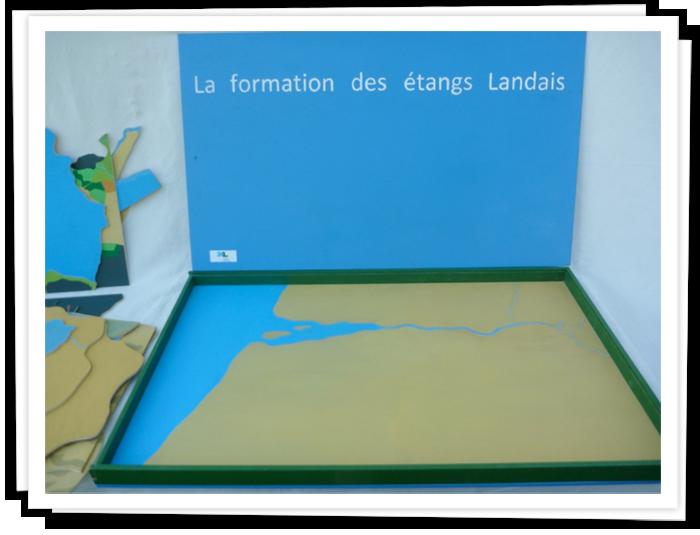Maquette sur la formation des étangs landais.