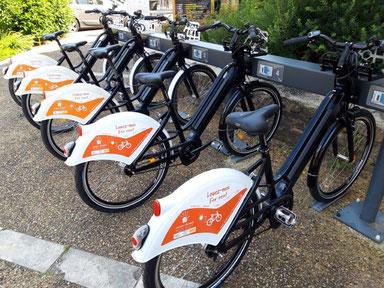 Vélos à assistance électrique en libre service