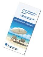 Download einer Informationsschrift über Vorbeugung und Management von Zahnproblemen im Urlaub
