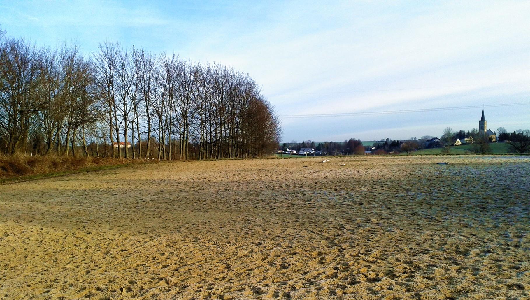 Außenplatz im Winter