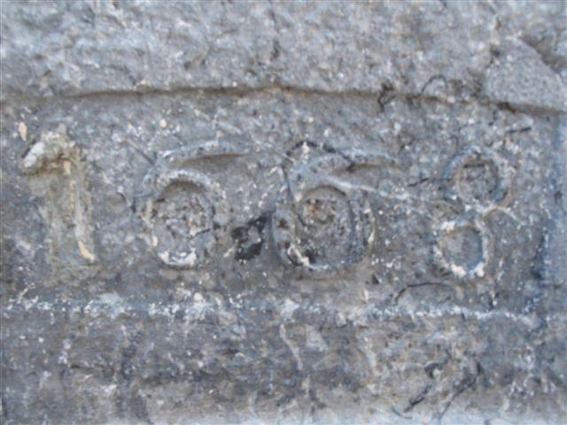 Linteau de porte 1668