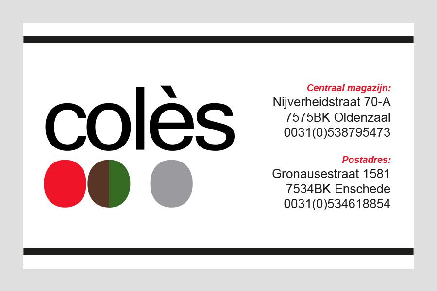 2011 - Colés visitekaartje