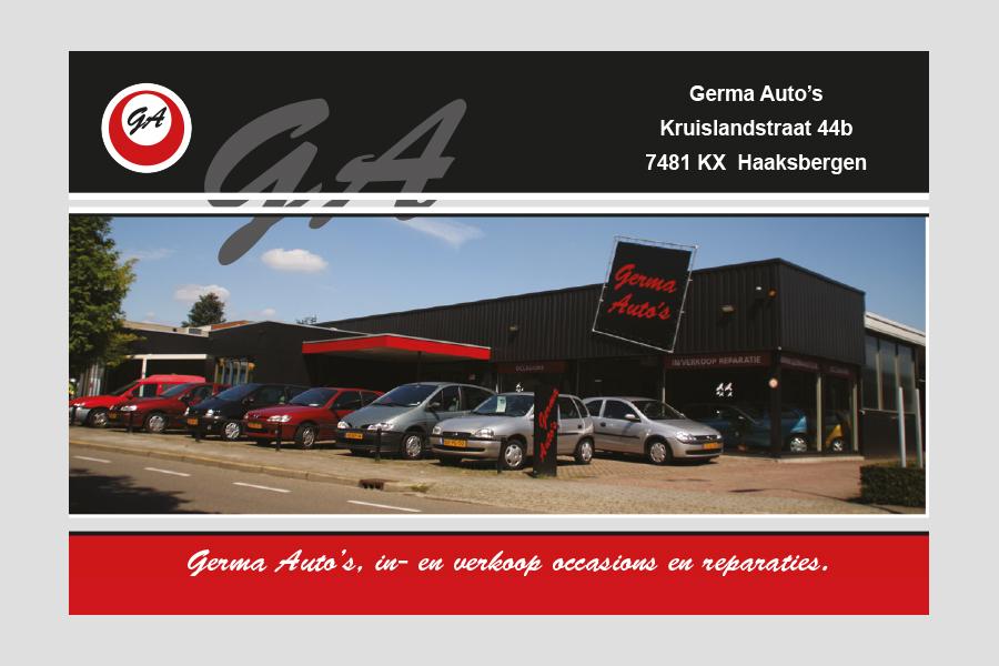 2014 - Germa Auto's afspraakkaartje
