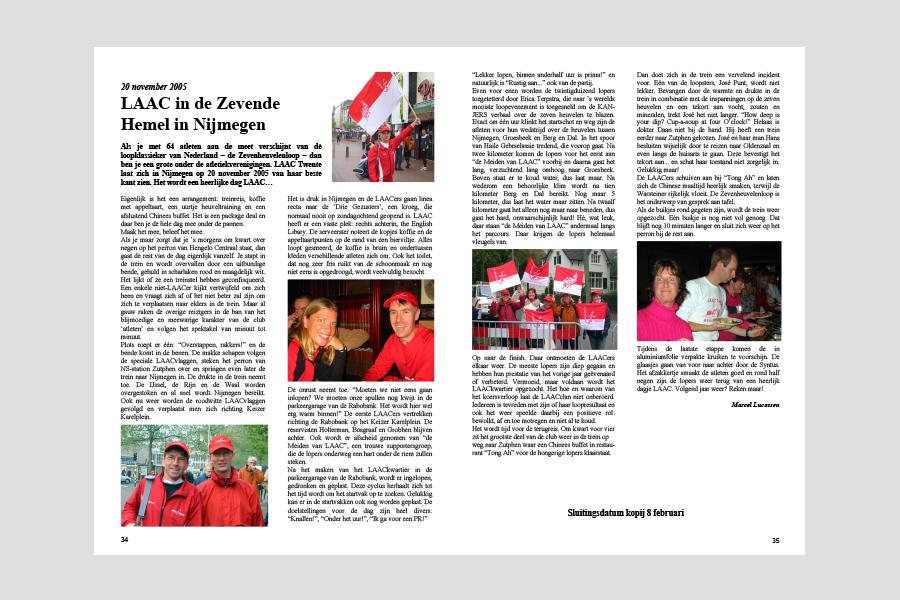 2005 - Eerste Duurloper (Clubblad LAAC-Twente)