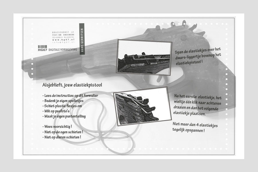 2013 - Elastiek Pistool instructies
