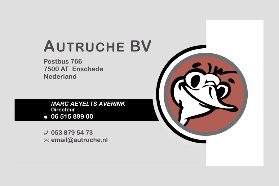 2011 - Autruche BV visitekaartje