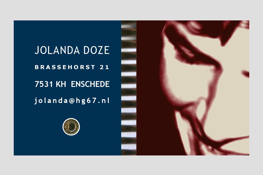 2007 - Jolanda Doze  visitekaartje