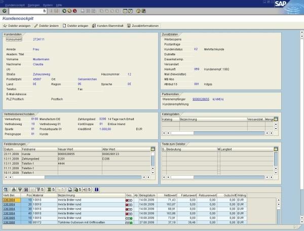 IOT Multichannel-Cockpit Kundeninformation