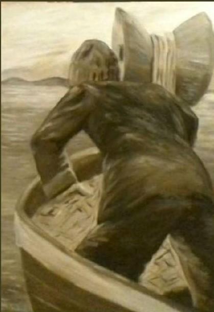 Esempio di olio su tela monocromatico