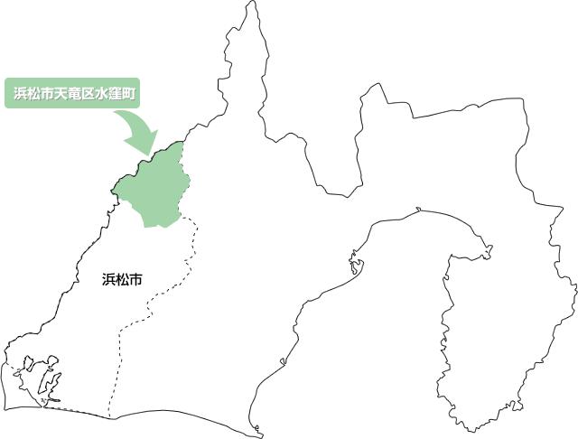 地図-浜松市天竜区水窪町