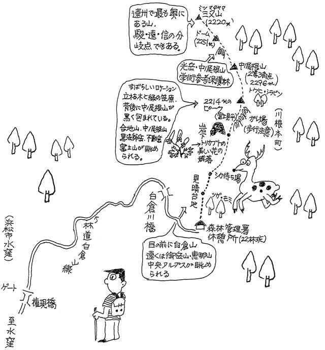 中ノ尾根山山登りガイド