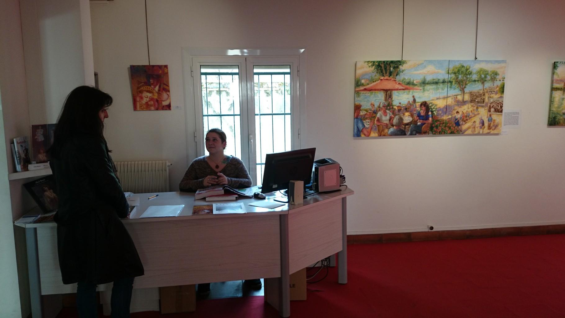 Le staff du musée. Courageuses, toujours présentes, aimables et souriantes. (D'autres photos ultérieurement).