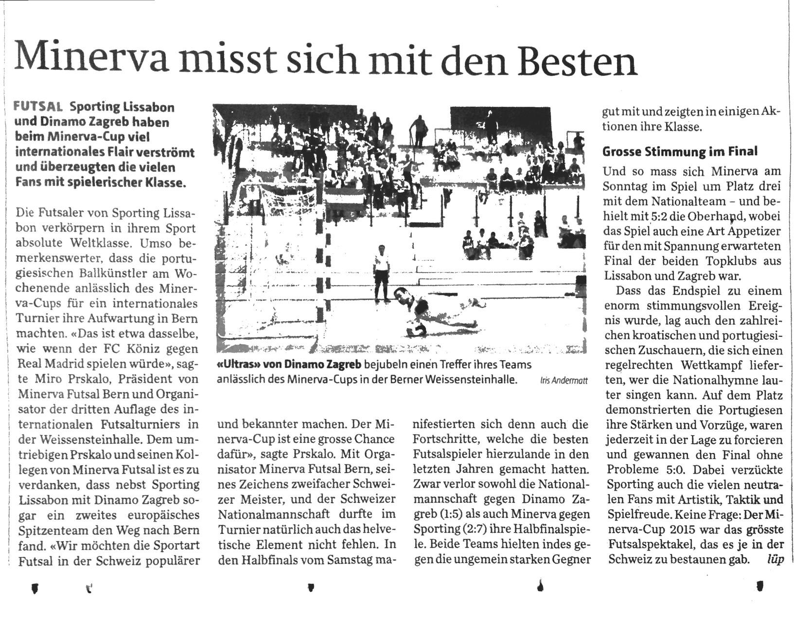 Berner Zeitung BZ - 15. September 2015