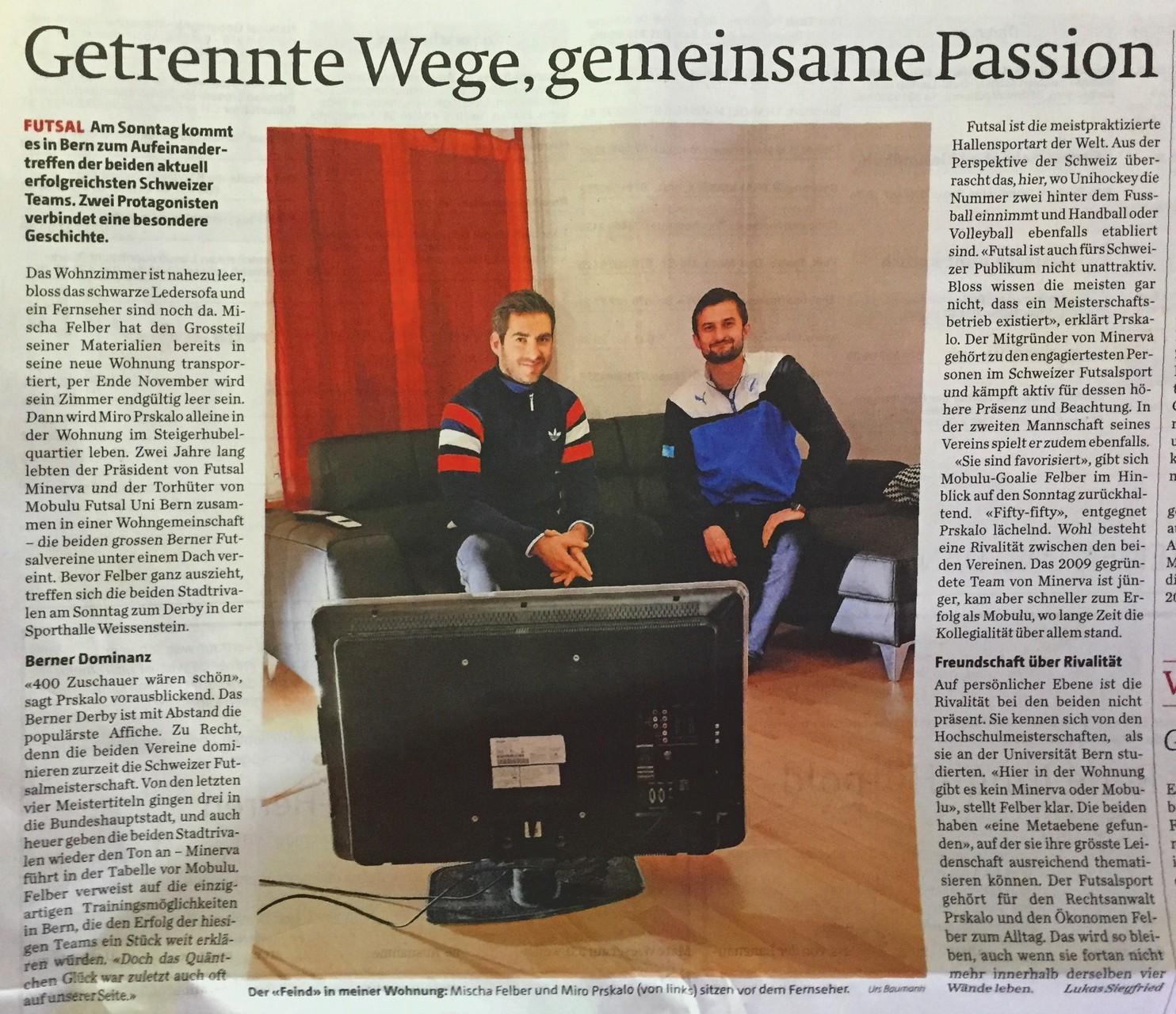 Berner Zeitung BZ - 20. November 2015