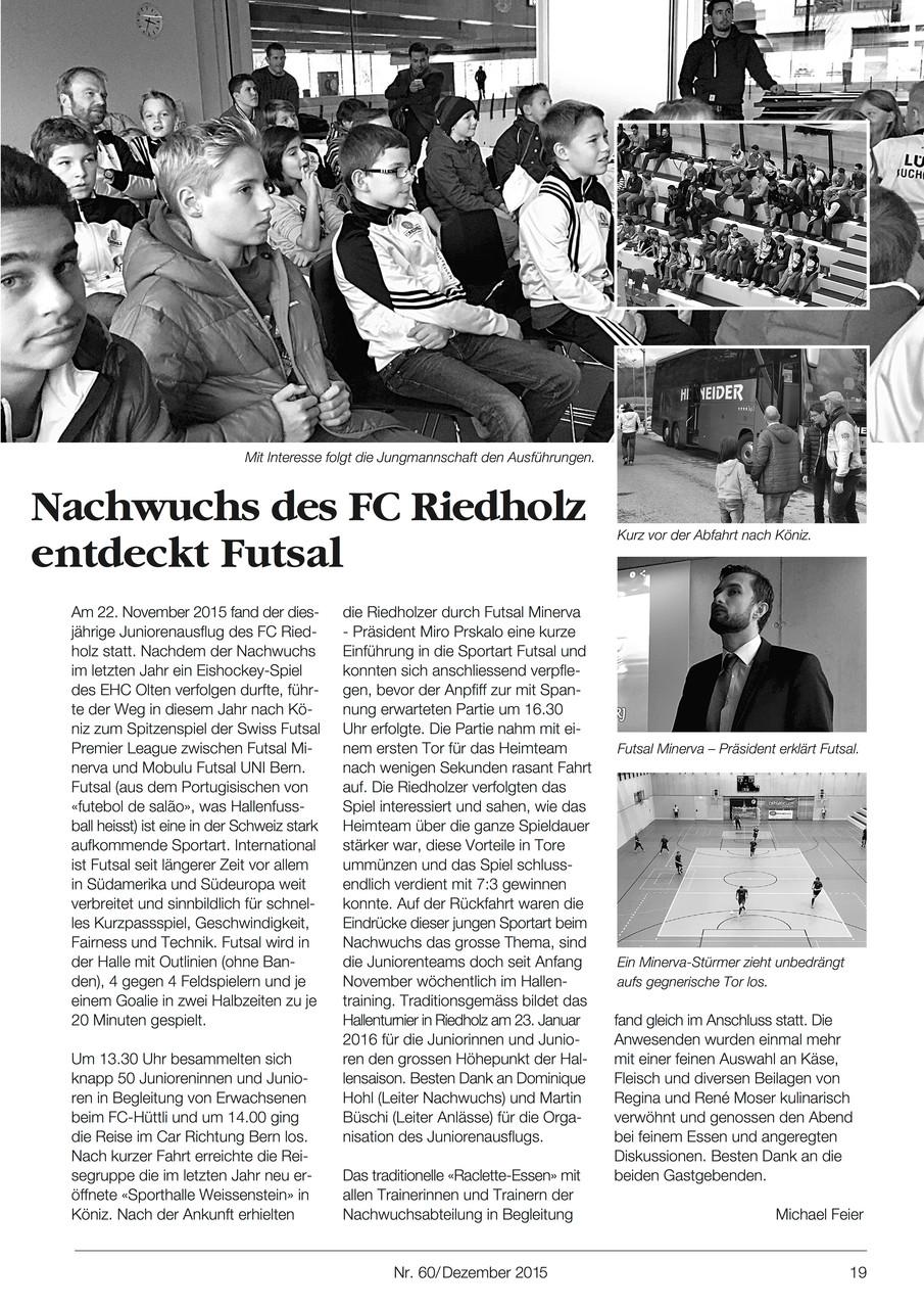 Tannenzeitung/FC Riedholz - Dezember 2015