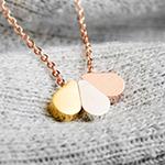tropfen rose gold drop tear teardrop edelstahl kette necklace fabulous funky dreifarbig schmuck mini geschenk