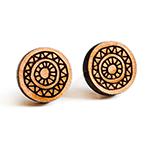 mandala holz ohrstecker filigran lasercut wood earring round cabochon muster fabulous funky