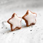 zimtstern cookie fimo zimtsternohrstecker polymer clay christmas weihnachten