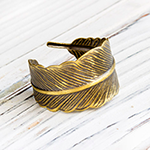 federring feder bronze feather spring boho vintage ring geschenk fabulous funky