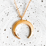 mondkette sichel gold fabulous funky schmuck fashion mond moon halbmond