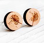 pusteblumen ohrstecker holz lasercut wood fabulous funky schmuck ohrringe