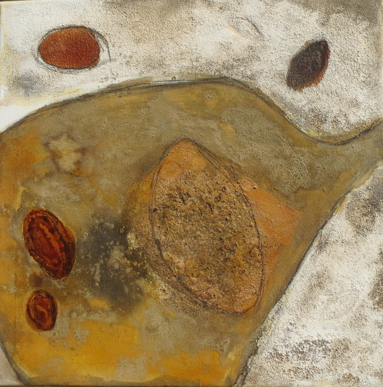 Ovale, 40cm x 40cm, Mixed Media auf Leinwand