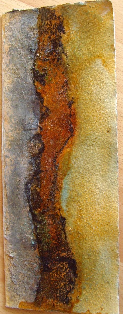 27cm x 10,5 cm, Klappkarte, Materialmix