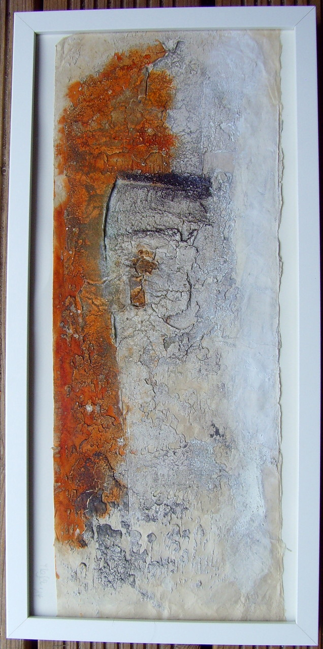 Papier mal anders  18cm x 40cm, Mixed Media