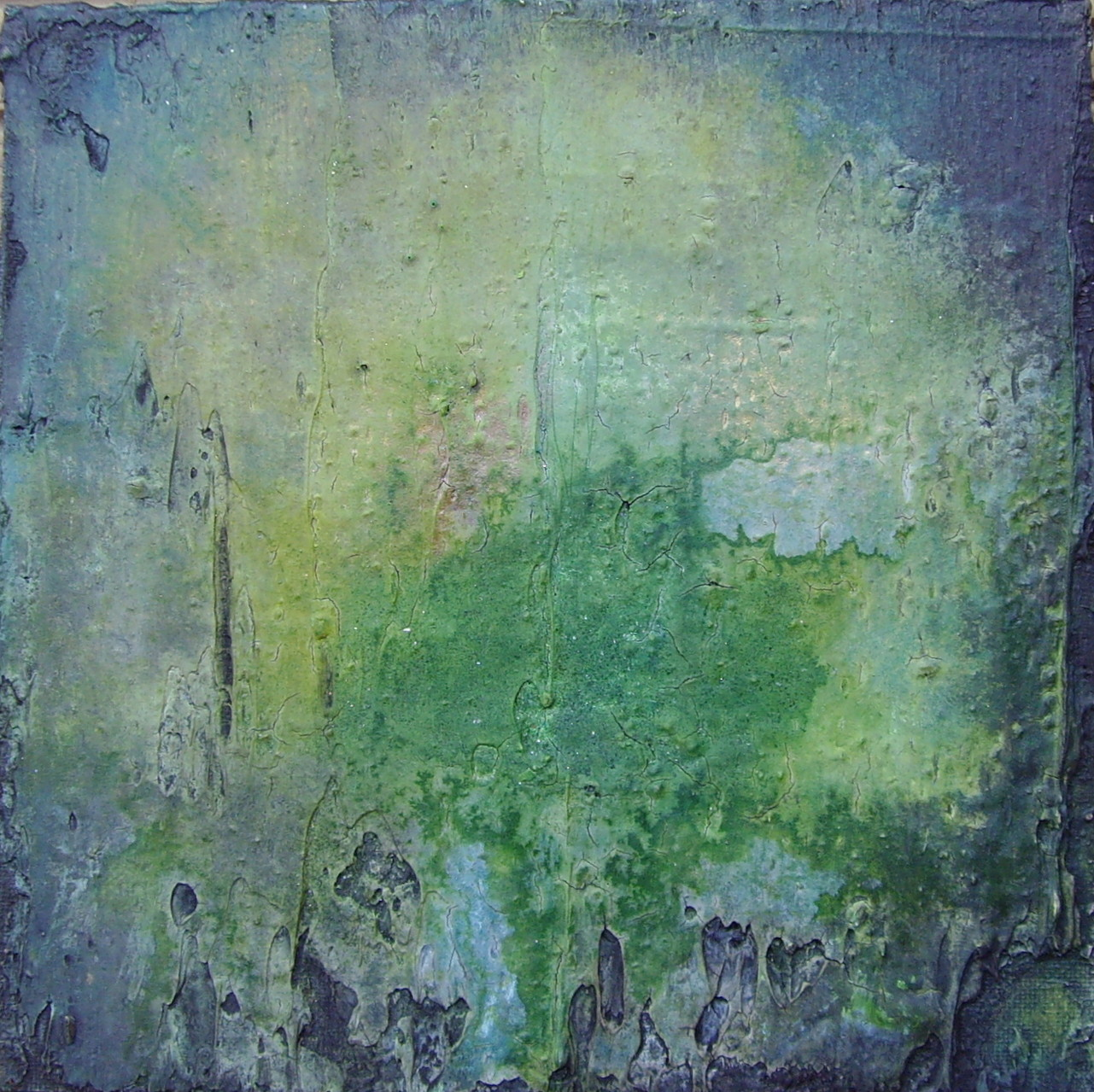Unterwasserwelt, 20 cm x 20cm, Mixed Media