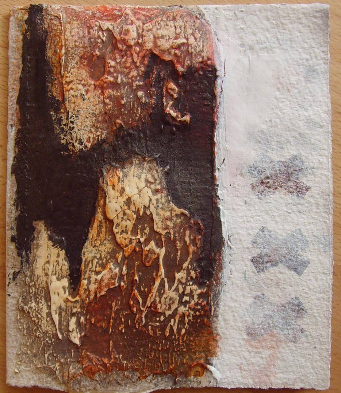 13,5 x 16cm, Klappkarte, Materialmix