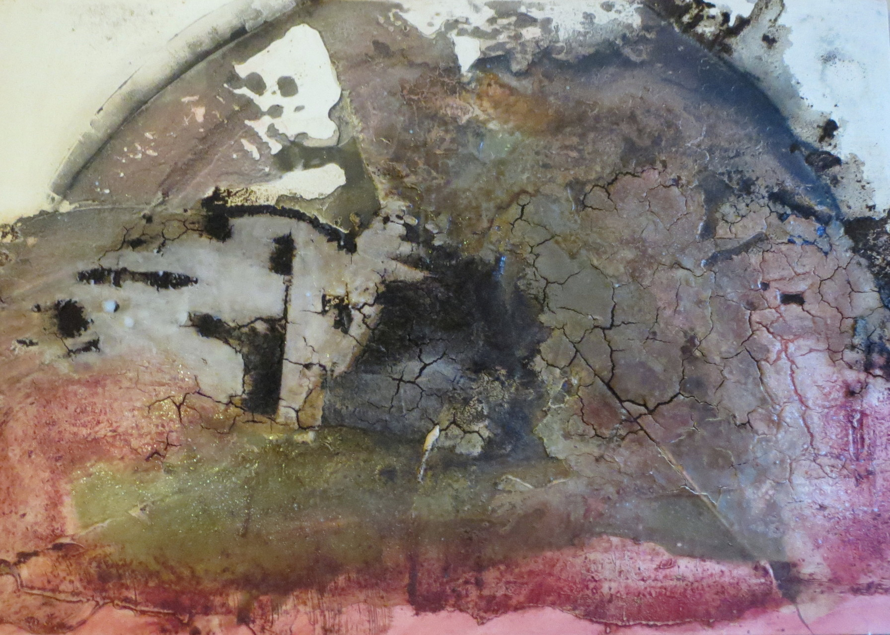 Blick aus dem All, 70cm x 1m x 4,5cm, Mixed Media