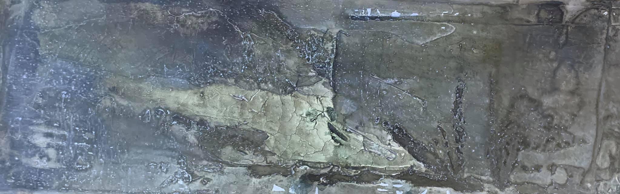 Fossil, 40cm x 1,20m x 4,5cm, Mixed Media,