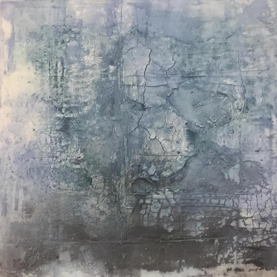 Eiswüste, 70 x 70 x 4cm, Mixed Media mit Intonakoschicht