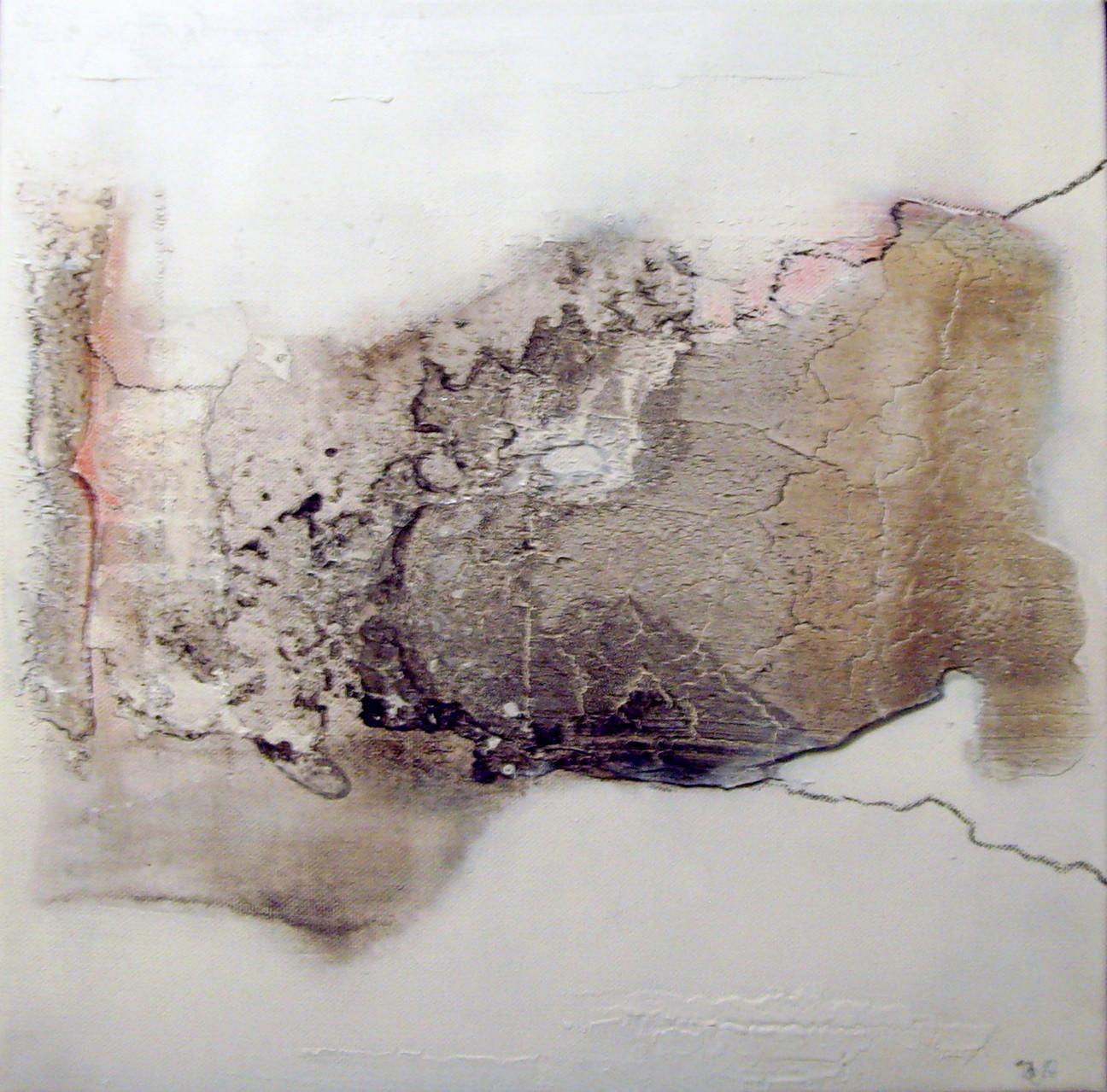N°12 - 40cm x 40cm, Materialmix auf Leinwand