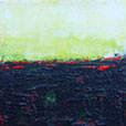 Grün-Gelber Horizont, 15cm x 15cm, Acryl auf Leinwand